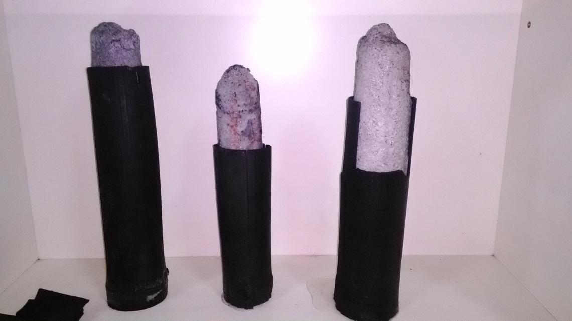 附圖四:竹鹽結晶與竹碳