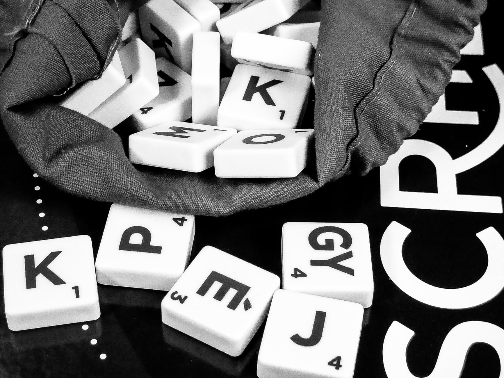 alphabet black and white business child